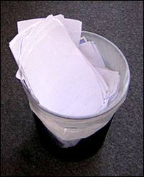 Paper in the Bin