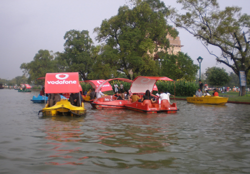 Boat Ride at India Gate