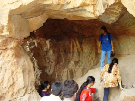 Caves in JNU