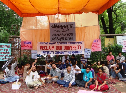 Students at Delhi University Protest Against the Commonwealth Games