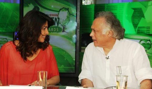 Jairam Ramesh with Priyanka Chopra