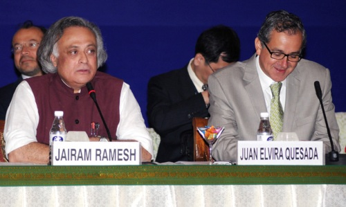 Jairam Ramesh and Juan Elvira Quesado