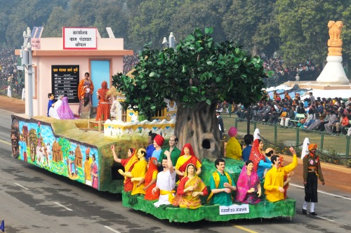 Panchayati Raj Tableau on Republic Day 2011