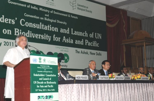 Jairam Ramesh at the Biodiversity Meeting Announcing UNDB