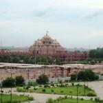 Akshardham Temple in Delhi on Yamuna floodplain