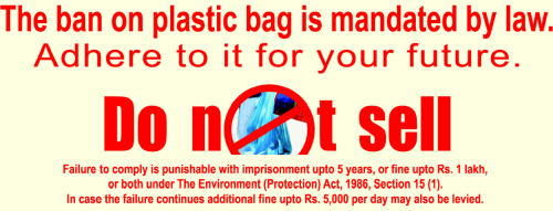 Ban on Plastic bags