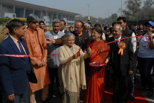 Green Lens: DU Flower Show with CM Sheila Dikshit