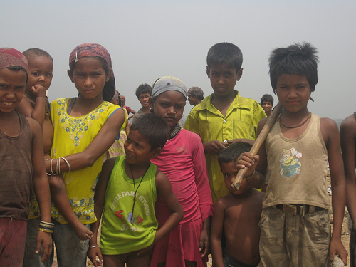 Children at Okhla Landfill