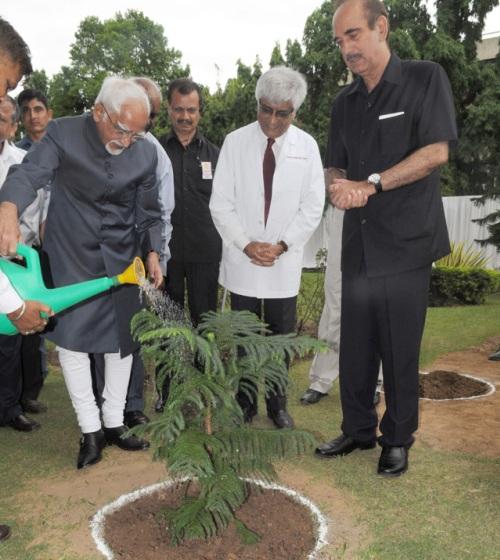 Vice President Plants Saplings During Van Mahostav