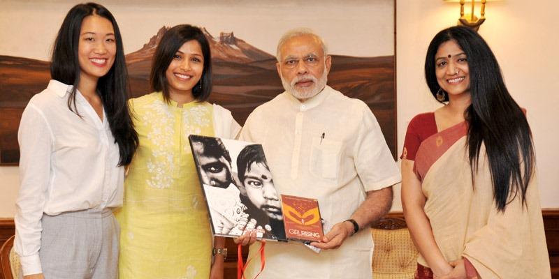 One for the Girl Child: PM Narendra Modi Backs the Girl Rising Team