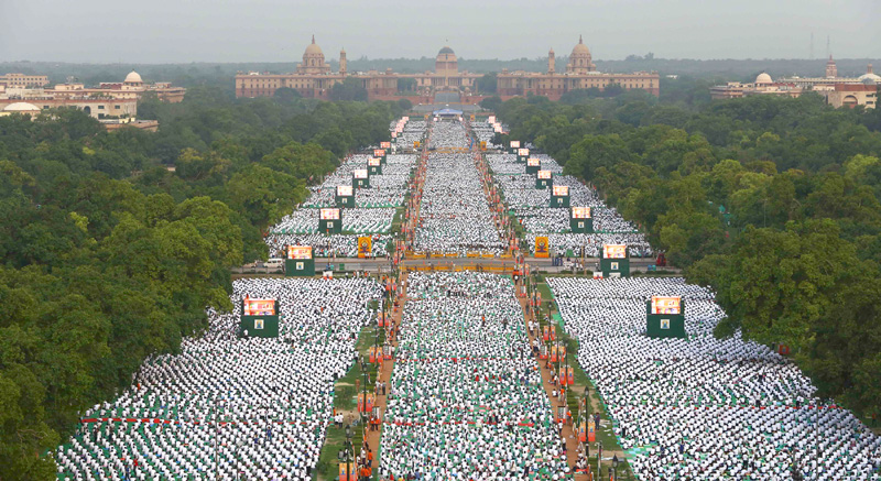 Rajpath Became Yogpath on International Yoga Day 2015!