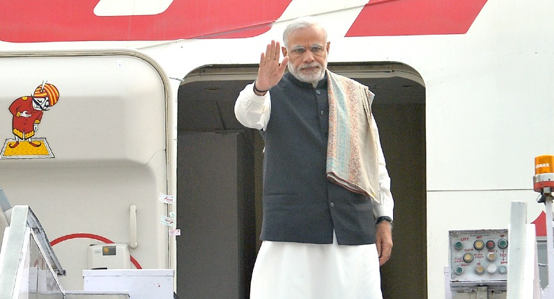 Prime Minister Narendra Modi Leaves for Paris Conference