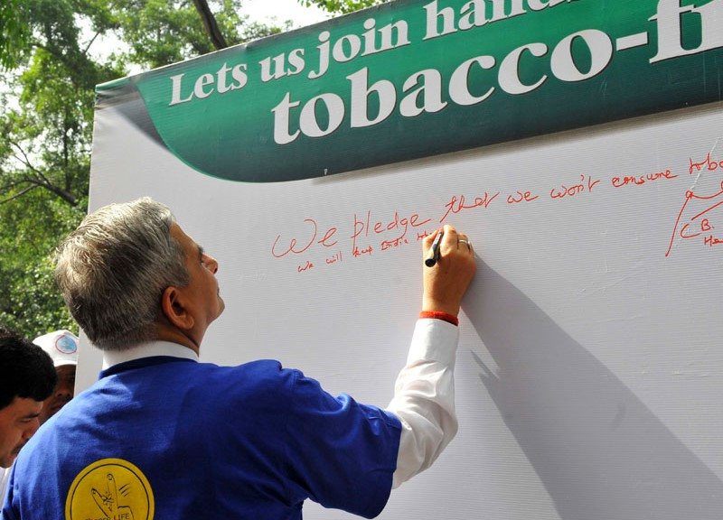 Pledge to Stop Consumption on World No Tobacco Day