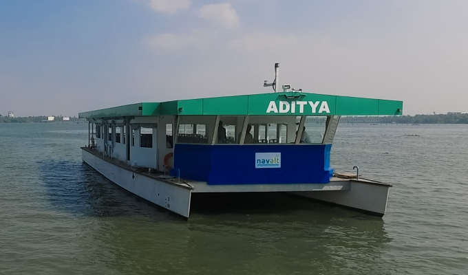 India's First Solar Boat Aditya Launched in Kerala by Piyush Goyal
