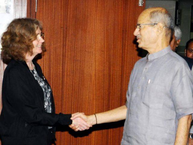 Environment Minister Anil Madav Dave Meets Sweden State Secretary