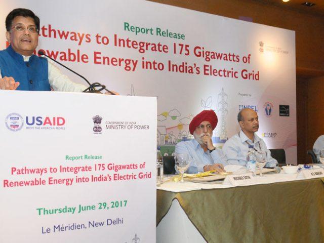 Release of Report on Integrating 175 Gigawatt Renewable Energy in India