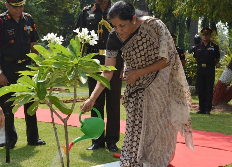 Defence Minister Smt. Nirmala Sitharaman on the Green Path