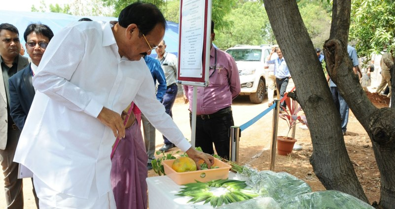 Hon'ble Vice President Inspects Urban Greening at MANAGE, Hyderabad