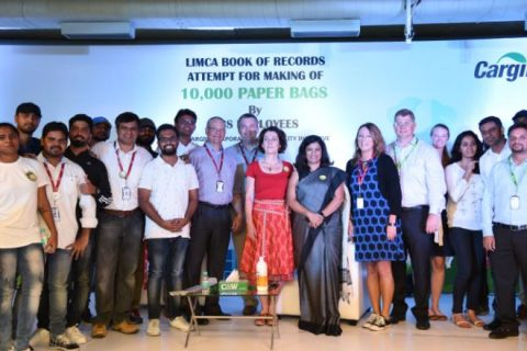Cargill Attempts Limca Book of Records for Making Paper Bags