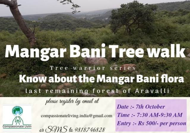Invitation to Mangar Bani Tree Walk by Compassionate Living
