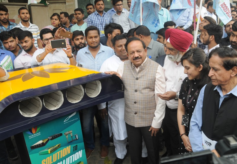 Environment Ministers of Central and Delhi Govts Campaigning Against Air Pollution