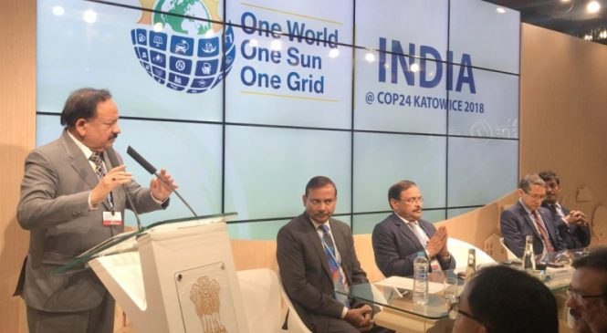 One World One Sun One Grid, India's Message at COP 24