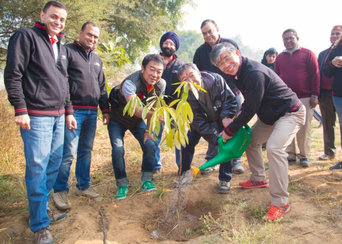 Mitsubishi Electric India Plants Trees As Part of CSR Strategy