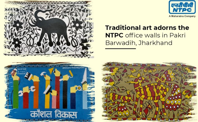 NTPC Promotes Traditional Art Forms on its Office Walls