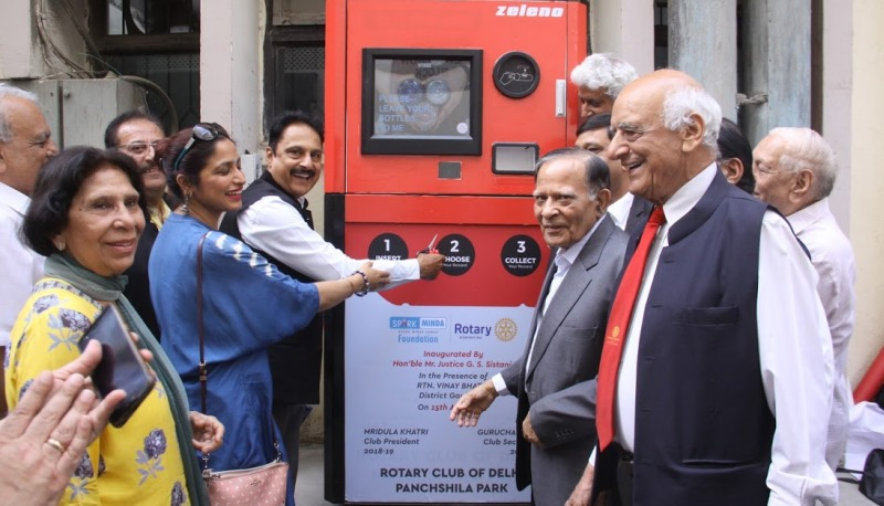Rotary Club Installs Reverse Waste Vending Machine at High Court