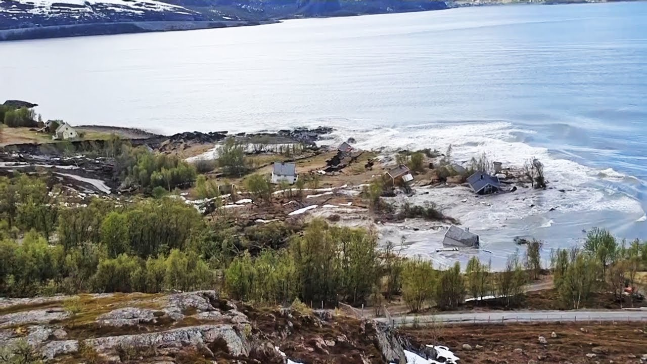 Watch: Sea-level Rise Swallows Norway Homes