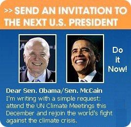 Invite Obama, McCain to the UN Climate Negotiations
