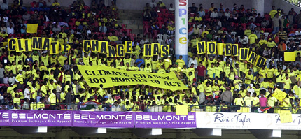 Protest Against Climate Change during a Cricket Match