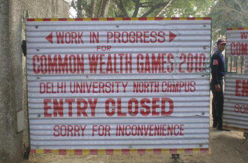Delhi University Closed for Construction