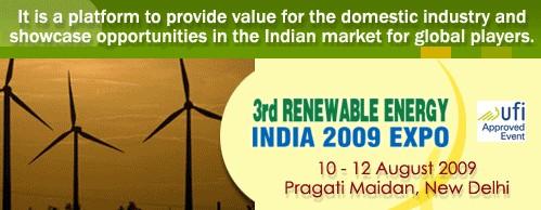 3rd Renewable Energy India Expo 2009