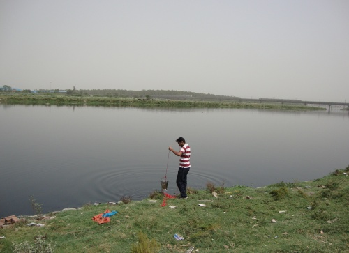 Cleaning the Yamuna
