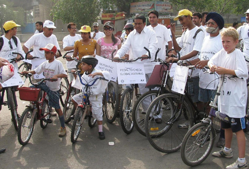 Climate Cycle Rally in Delhi