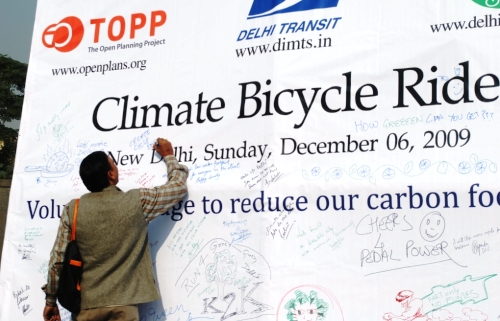 Delhi Climate Bicycle Ride