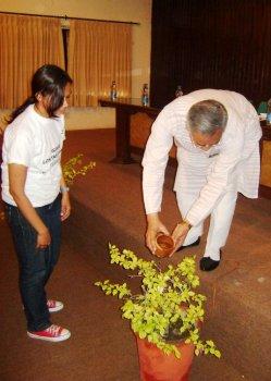 MP Meinya Launching Save Loktak Campaign