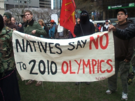 Protest against Winter Olympics 2010