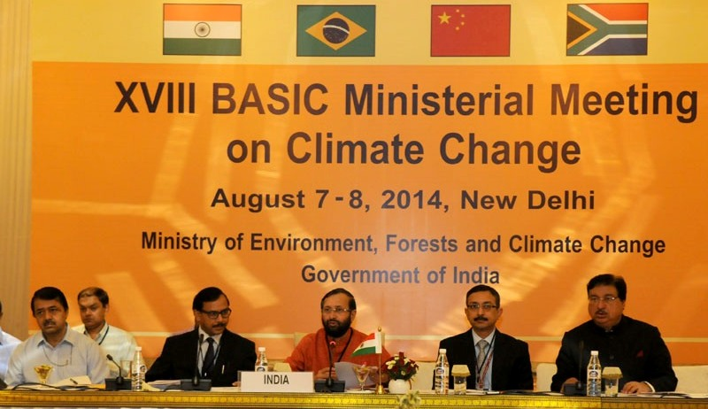 Environment Minister Shri Prakash Javadekar at the 18th BASIC Ministerial Meeting on Climate Change