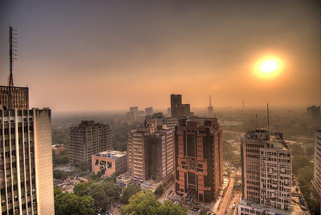 delhi-evening-sky-delhi-greens