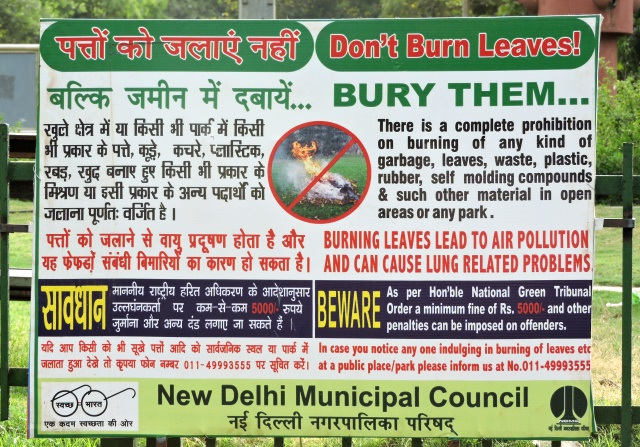 Stop Burning Leaves Delhi, Its Against the Law And Against Your Health