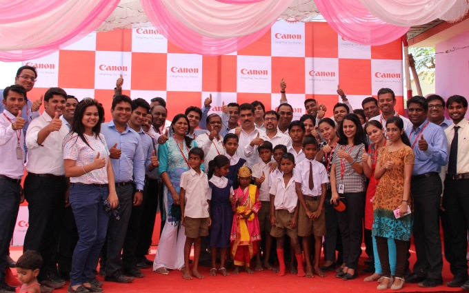 Canon Celebrates 1st Anniversary of Village Adoption Initiative