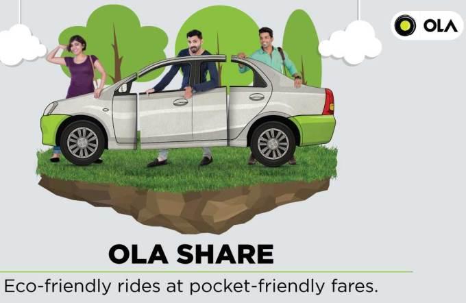 Ola Share Promotes Car Pooling Like Never Before