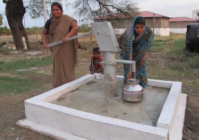 wells-by-church-in-drought-hit-india
