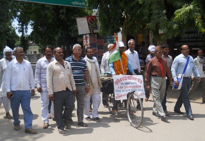 Cycle Yatra for Enviroment protection in Varanasi India