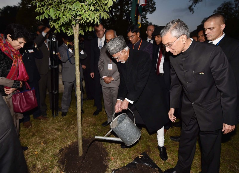 Hon'ble Vice President of India Plants Sapling in Hungary