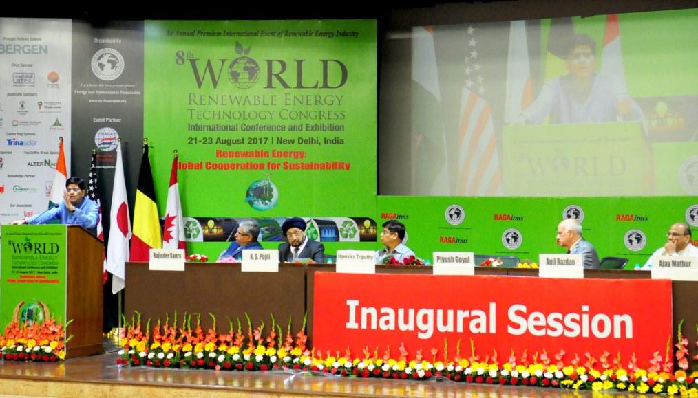 8th World Renewable Energy Technology Congress Underway in Delhi