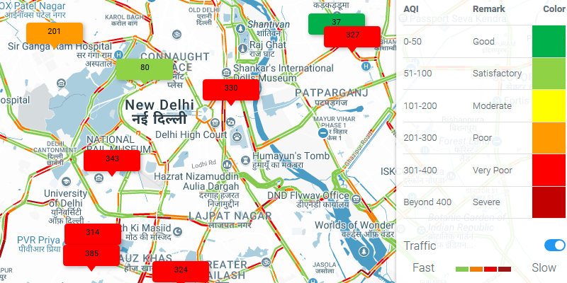 6 Websites to Find Out Real Time AQI Around You in Delhi