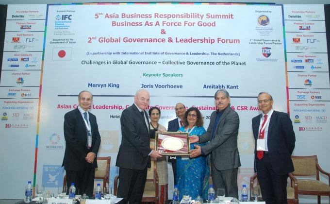 Ambuja Foundation Wins Best CSR and Sustainability Award 2017